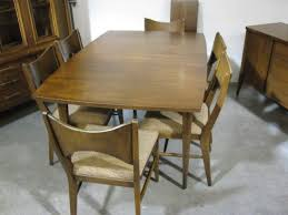 Midcentury Modernism - broyhill dining chairs shown with china hutch shown with china