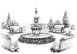 water fountain in the park royalty free cliparts vectors and
