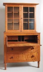 Desk With Top Shelf Cherry Secretary Desk With Hutch Foter
