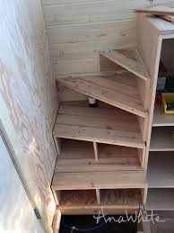 Ana White Tiny House Kitchen by Ana White Tiny House Stairs Spiral Storage Style Diy Projects