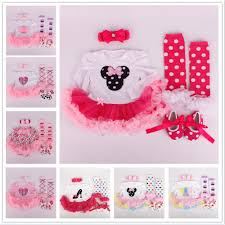 Minnie Mouse Clothes For Toddlers Autumn Baby Minnie Mouse Disney Romper Sets Floral Cartoon Newborn