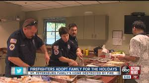 adopt a family for thanksgiving after house fire firefighters host family who lost their home to