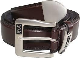 mens leather belt casual jeans belt amazon co uk clothing