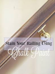 How To Paint Stair Banisters Chalk Paint Makeover The Stair Rail
