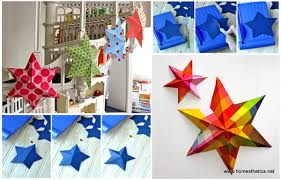 diy paper art projects learn how to make 3d paper stars tutorial included