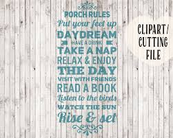 porch clipart porch rules svg porch rules sign clipart porch sign svg files