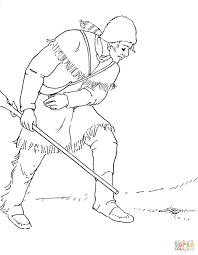 daniel boone coloring page free printable coloring pages