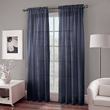 Hanging Rod Pocket Curtains With Rings Crushed Voile Sheer Rod Pocket Window Curtain Panel Bed Bath