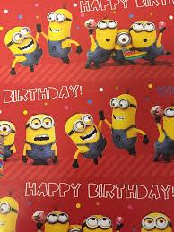 minion gift wrap minion birthday gift wrap minions poppyseed