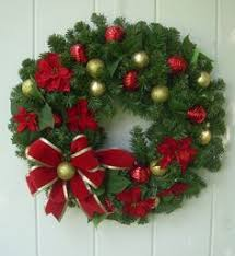 evergreen wreath decorated faux evergreen wreath