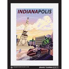Indiana Travel Pictures images Roadside america indiana travel poster of indianapolis jpg