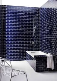 Blue And Black Bathroom Ideas by Best 25 Subway Tile Bathrooms Ideas Only On Pinterest Tiled