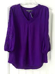 Purple Color Brixon Ivy Elmar Embroidered Cutout Blouse Beautiful Purple Color
