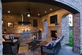 simple outdoor kitchen and fireplace designs decorating idea