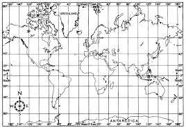 Latitude Map Of The World by Map Projections