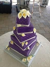 purple buttercream with gumpaste calla lilies offset squares