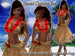 Hula Halloween Costume Marketplace Hawaii Hula Costume Red