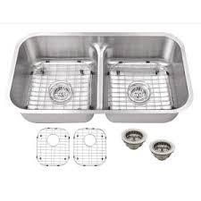 Stainless Steel Undermount Kitchen Sink by Moen 1600 Series Undermount Stainless Steel 34 In Double Basin