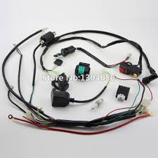 kick electric start engine wiring harness loom coil c7hsa spark