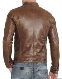 mens brown leather biker boots arrow men stylish soft genuine lambskin leather biker jacket