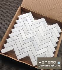 herringbone made from carrara marble not your standard 1x2
