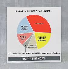runners birthday card u0026 gift tag free uk folksy