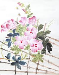 chinese painting of flowers stock photo 181090698 istock