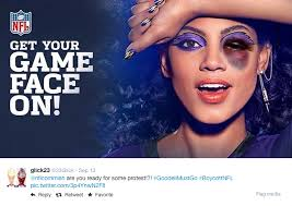 Domestic Violence Meme - photoshopped covergirl ad protests nfl domestic violence