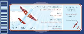 boarding pass invitations template budget template free