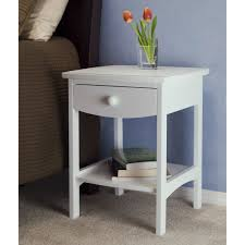 Nightstand With Shelf Amazon Com Winsome Wood End Table Night Stand With Drawer And