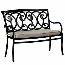 somerset bench outdoor bench cast aluminum