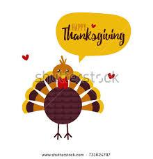 turkey character happy thanksgiving stock vector