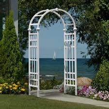 new white arbor trellis pergola garden yard decor backyard wedding