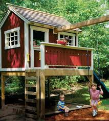 Tree House Design Ideas The Kids Will Love Playhouses Sandbox - Backyard fort designs