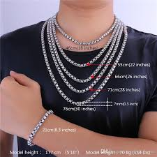 necklace neck sizes images 2018 u7 new chain 7mm 5 sizes stainless steel box chains classical jpg