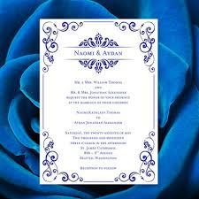 wedding invitations royal blue wedding invitation template royal blue