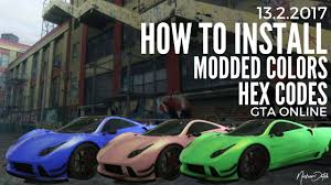 gta 5 online how to install modded crew colors hex codes tutorial