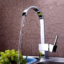 waterfall kitchen faucet chrome finish contemporary brass single handle one waterfall