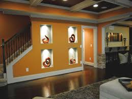 Recessed Wall Niche Decorating Ideas Living Room Recessed Wall Niche Orange Living Room With Wall
