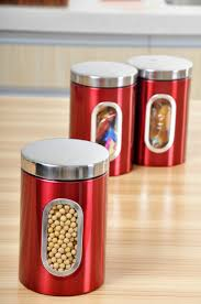Red Kitchen Canister Set 100 Kitchen Canisters Red Red Canister Set For Kitchen