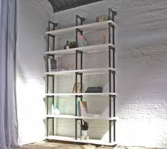 Distressed White Bookcase by Sean Reclaimed White Painted Scaffolding Boards And Distressed