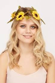 sunflower headband sunflower crown headband just 5