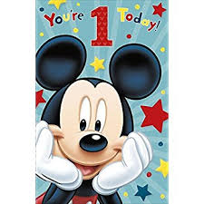 mickey mouse 1st birthday mickey mouse 1st birthday card office products