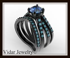 black weddings rings images Black gold wedding ring set vidar jewelry unique custom jpg