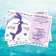mermaid invitation mermaid invite mermaid party invite