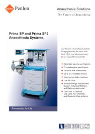 prima sp and prima sp2 penlon pdf catalogue technical