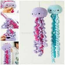Crochet Home Decor Patterns Free Crochet Jellyfish Jelly Fish Fish And Crochet