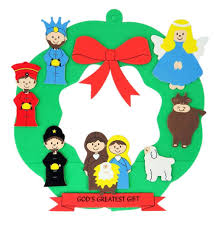 amazon com god u0027s greatest gift christmas nativity wreath foam