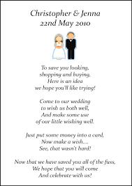 wedding gift honeymoon fund wedding invite gift poem wedding invitation poems for money