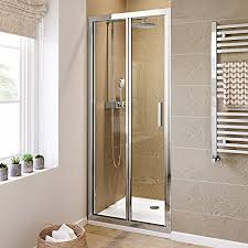 Shower Bifold Door 760mm Bifold Easy Clean 6mm Glass Shower Enclosure Reversible